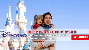 Disneyland Paris Angebot – 4*-Hotel und Eintritt 2017 ab nur 99 Euro p.P.