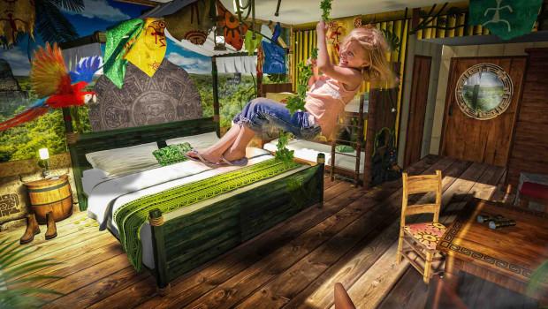 Dschungelzimmer im Heide Park Abenteuerhotel