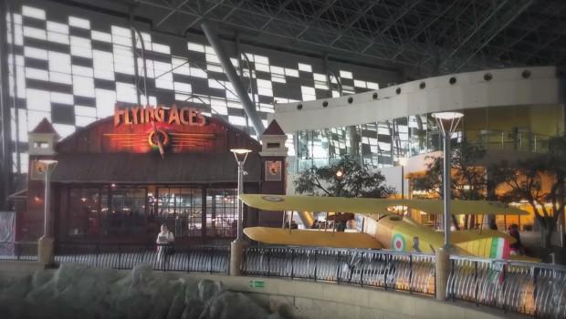 Flying Aces Eingangsbereich in Abu Dhabi