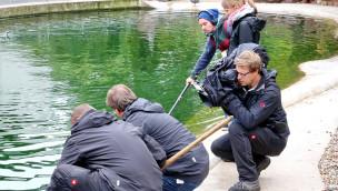 """Ungewöhnliche Tier-WG aus dem Zoo Karlsruhe bei """"hundkatzemaus"""" am 13. Februar 2016"""