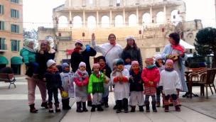"""Närrischer Besuch vom Ruster Kindergarten im Europa-Park Hotel """"Colosseo"""""""