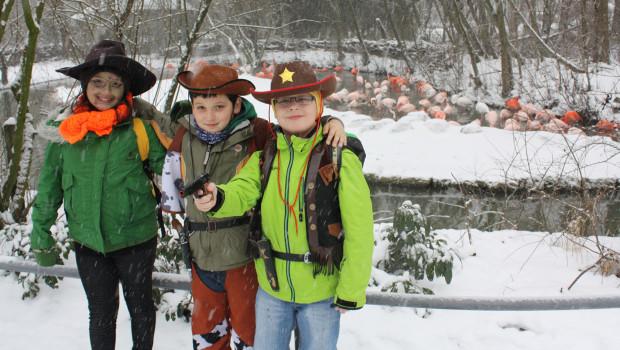 Kostümierte Kinder im Tierpark Hellabrunn