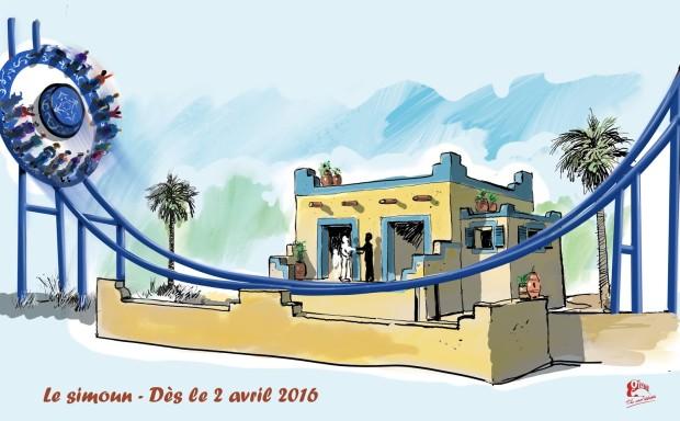 La Mer de Sable - Disk'o Coaster Concept