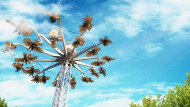 Liseberg Aero Spin Sky Roller Artwork