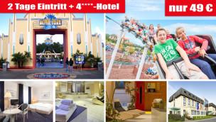Movie park Angebot mit Eintritt und Hotel - 02/2016