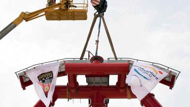 PortAventura Ferrari Land Achterbahn Krönung