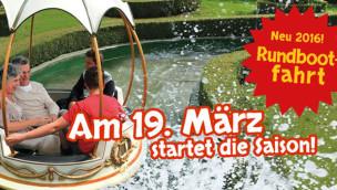 Schwaben-Park eröffnet 2016 Rundboot-Fahrt als neue Attraktion