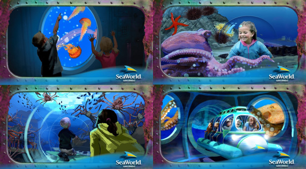 Sea World San Diego Ocean Explorer Artworks