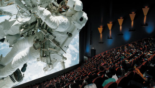 Sinsheim IMAX-Kino Szene mit Astronaut