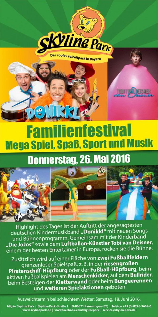 Skyline Park Familienfestival 2016 Flyer