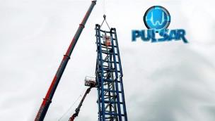 """""""Pulsar"""" in Walibi Belgium ist aufgebaut: Schienen der Neuheit 2016 komplett montiert"""