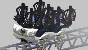 """Walibi Holland enthüllt Achterbahn-Wagen von """"Lost Gravity"""""""