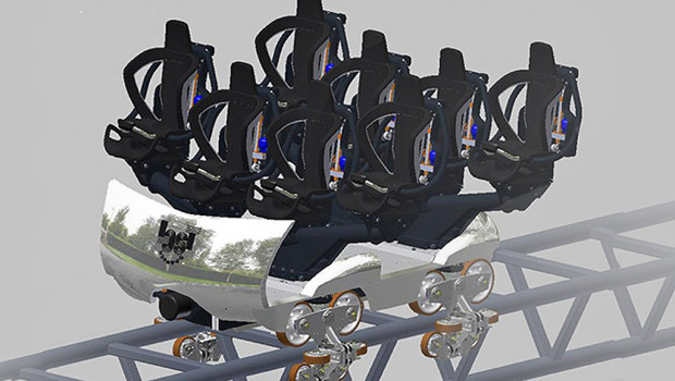 Walibi Holland Lost Gravity Achterbahn-Wagen