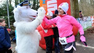 TC FIKO Rostock läuft am 27. Februar 2016 beim 3. Winterlauf für das Polarium im Zoo Rostock