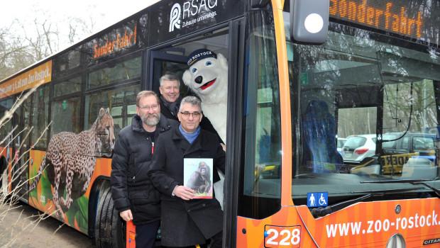 ZOO Rostock RSAG Bus Einweihung