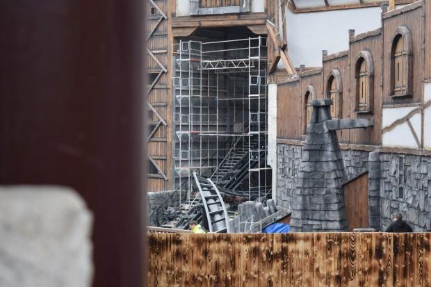 Klugheim-Baustelle im Phantasialand im März 2016