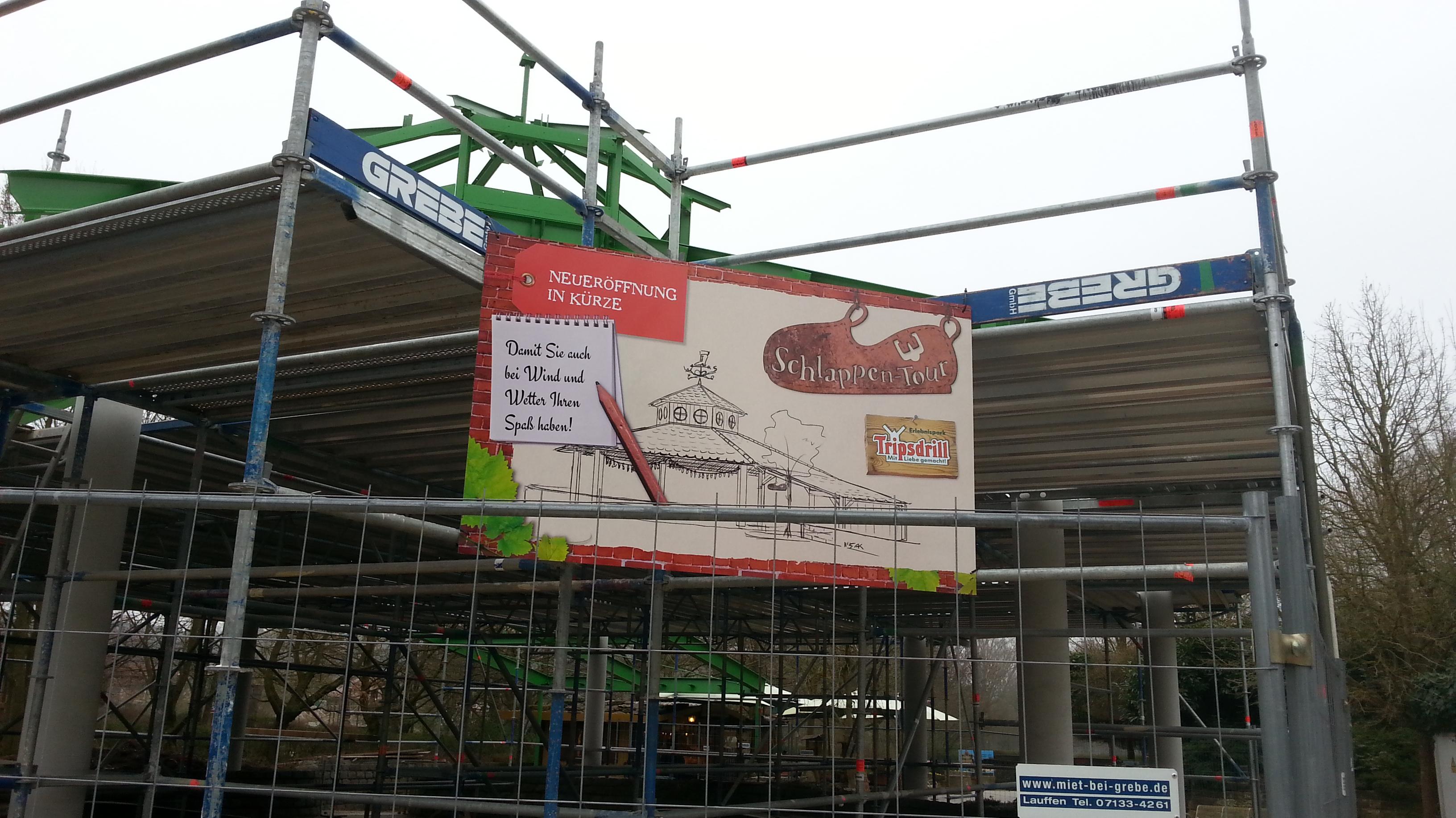 """Baustelle bei der """"Schlappen-Tour"""" (Bild: Lukas Reiner, Parkerlebnis.de)"""