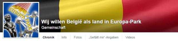 Petition zur Aufnahme Belgiens in den Europa-Park
