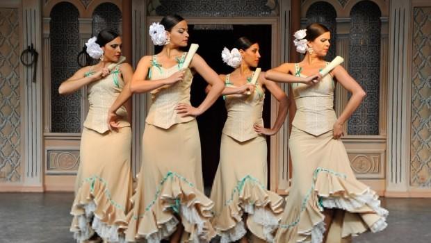 Flamenco-Tanz im Europa-Park-Bereich Spanien