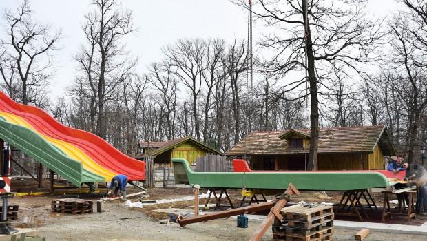 Familypark Neusiedlersee - Kraehennest Baustelle