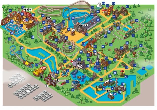 Freizeitpark Plohn Parkplan 2016