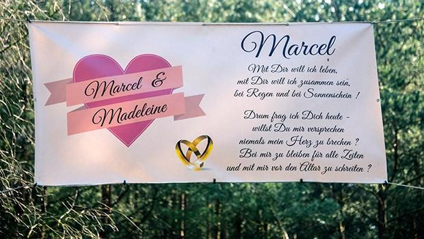 Heiratsantrag Banner