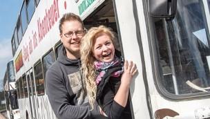 Heiratsantrag Serengeti-Park Bus