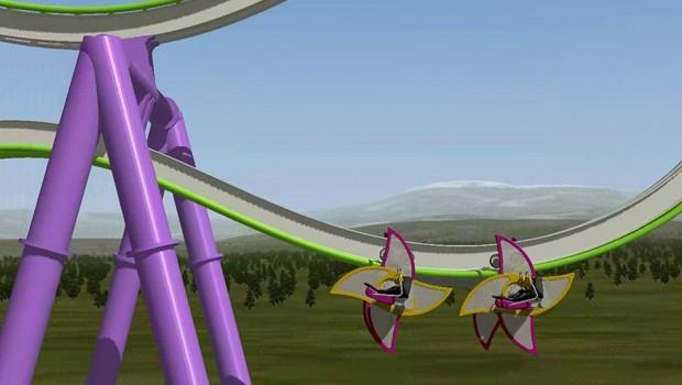 Intamin Zac Spin Free Spinning Konzept