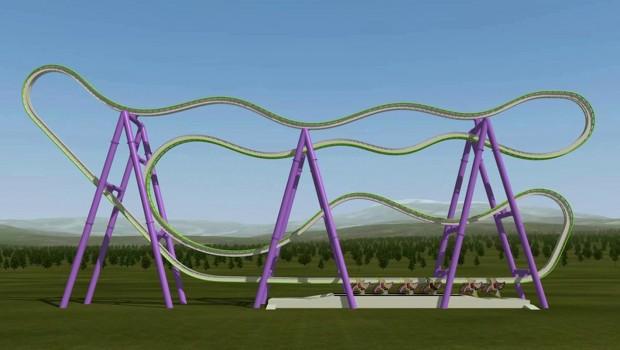 Launched Zac Spin Coaster von Intamin - Konzept