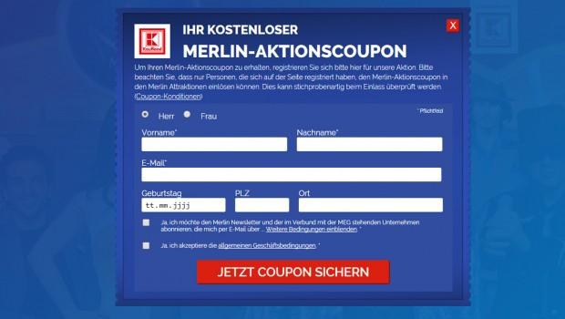 Merlin Aktion mit Kaufland - Formular 2016