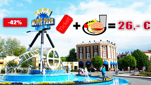 Movie Park Germany Angebot 2016 inkl. Hamburger