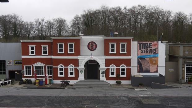 Das Hauptgebäude der Polizeiakademie im Studio 6.