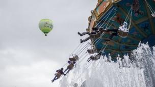 Phantasialand-Heißluftballon hat erfolgreich Jungfernfahrt unternommen