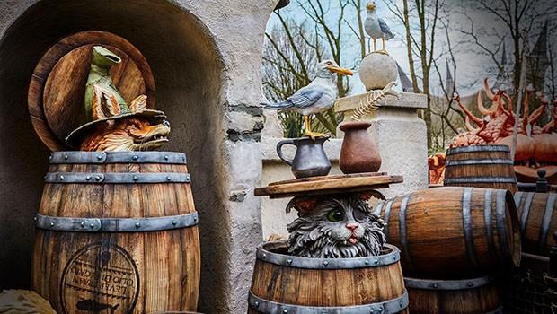 Pinocchio Efteling Kater und Fuchs