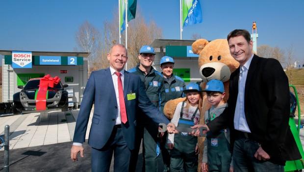 Ravensburger Spieleland - Eröffnung der Bosch Werkstattwelt