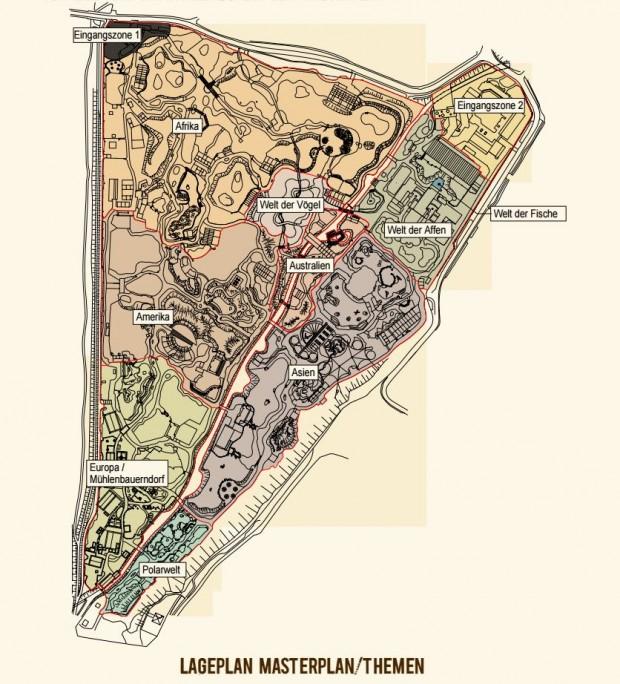 Tierpark Hellabrunn - Lageplan für Masterplan