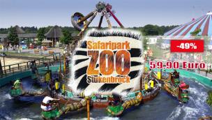 Zoo Safaripark Stukenbrock Angebot 2016 mit Übernachtung im 4*-Hotel und Eintritt nur 59,90 Euro p.P.