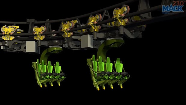 Arthur and the Minimoys Inverted Powered Coaster