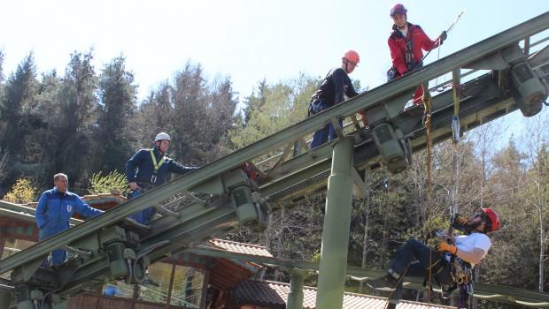 Bayern-Park - Schulung- Höhenrettung Achterbahn