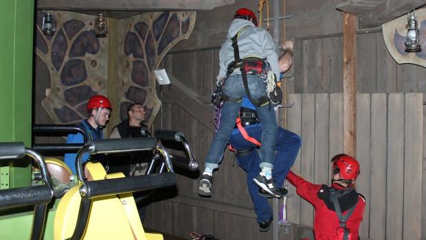 Bayern Park Schulung Höhenrettung Freifallturm