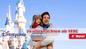 Disneyland Paris-Angebot mit 2 Übernachtungen im 4*-Hotel und Eintritt 2016 ab nur 149 Euro p.P.