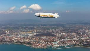 Roll-Out für Europa-Park Zeppelin: Luftschiff zum ersten Mal abgehoben