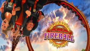 "Six Flags New England eröffnet Looping-Attraktion ""Fireball"" als Neuheit 2016 am 7. Mai"