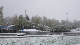 Freizeit-Land Geiselwind 2016 wegen Schnee geschlossen