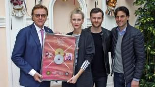 """Glasperlenspiel schenken Europa-Park Platin-Platte für """"Geiles Leben"""""""