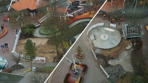 Hansa-Park Baustellen im April 2016