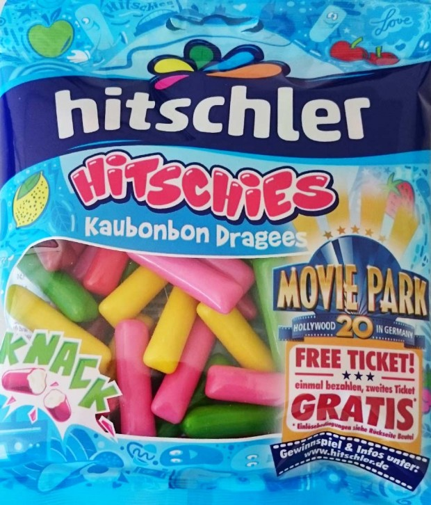 "Hitschler ""Hitshies"" Aktionspackung mit Movie Park Germany-Gutschein 2016"