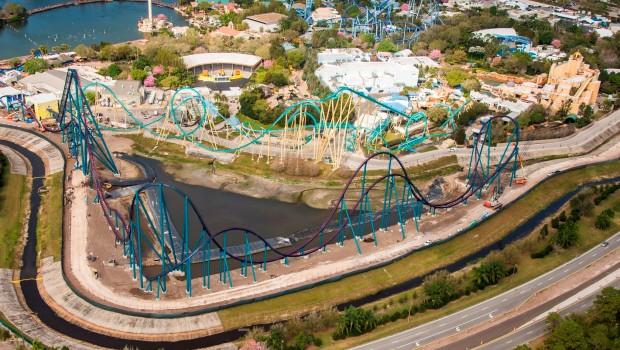 Mako in SeaWorld Orlando - Luftaufnahme
