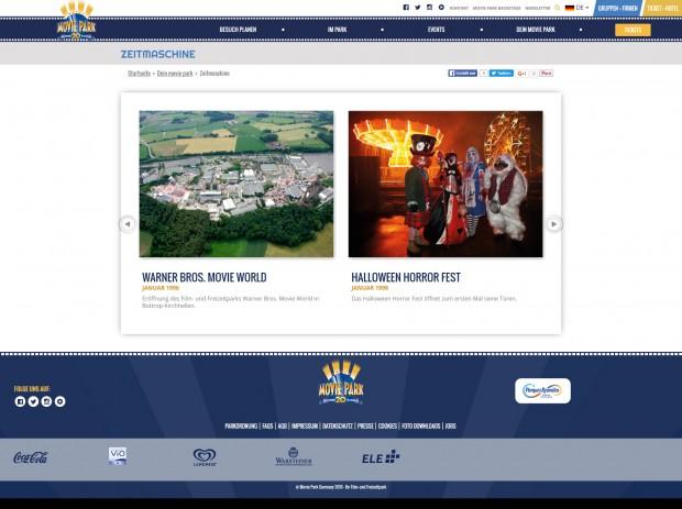 Movie Park Germany Homepage Zeitmaschine