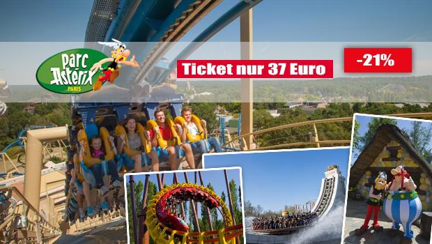 Parc Asterix Tickets günstiger - 04/2016